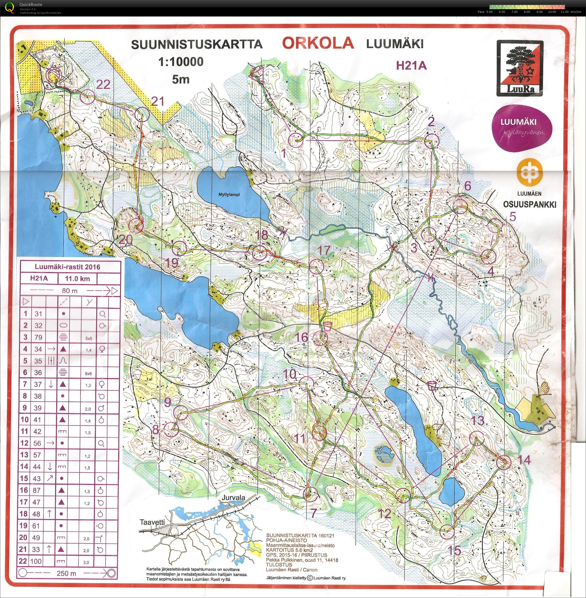 My Digital Orienteering Map Archive Luumaki Rastit 2016 12 06