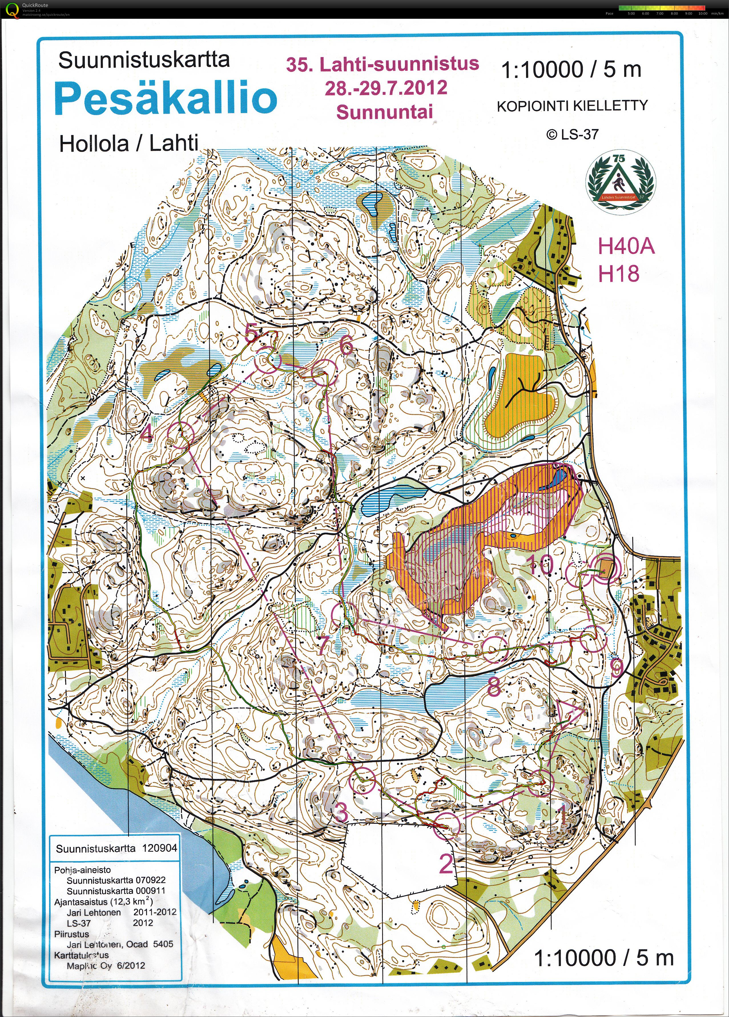 My digital orienteering map archive Lahtisuunnistus day 2 29